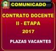 COMUNICADO A POSTULANTES A LA SEGUNDA ETAPA  DE ADJUDICACIÓN DE CONTRATO DOCENTE 2017