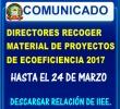 DIRECTORES DE EBR RECOGER  MATERIAL PEDAGÓGICO DEL PROYECTO DE ECOEFICIENCIA 2017