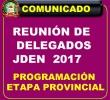 REUNIÓN DE DELEGADOS  JDEN 2017 - PARA PROGRAMAR LA ETAPA PROVINCIAL.