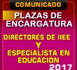 PLAZAS VACANTES DE ESPECIALISTAS EN EDUCACION UGEL ANDAHUAYLAS Y DIRECTIVOS DE INSTITUCIONES EDUCATIVAS