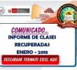 COMUNICADO PLAN DE RECUPERACIONES ENERO 2018 - SE ADJUNTO FORMATOS EXCEL