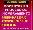 DOCENTES EN PROCESO DE NOMBRAMIENTO 2017 DE LA UGEL ANDAHUAYLAS PRESENTAR LEGAJO PERSONAL EN OF. DE ESCALAFÓN.