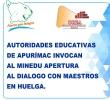 AUTORIDADES EDUCATIVAS DE APURÍMAC INVOCAN AL MINEDU APERTURA AL DIALOGO CON MAESTROS EN HUELGA.