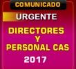 COMUNICADO URGENTE PARA DIRECTORES Y PERSONAL CAS