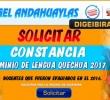 DIGEIBIRA APERTURÓ LA EMISIÓN DE CONSTANCIAS DE QUECHUA 2017 – SOLICÍTELO VIRTUALMENTE.