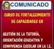 CONVOCATORIA Al CURSO DE FORTALECIMIENTO DE CAPACIDADES EN GESTIÓN DE LA TUTORÍA, ORIENTACIÓN EDUCATIVA Y CONVIVENCIA ESCOLAR EN LA I.E.
