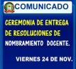 CEREMONIA DE ENTREGA DE RESOLUCIONES DE NOMBRAMIENTO DOCENTE 2017 - UGEL ANDAHUAYLAS.