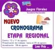 NUEVO CRONOGRAMA DE LOS JUEGOS FLORALES ESCOLARES ETAPA REGIÓNAL