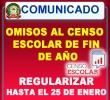 RELACIÓN DE OMISOS AL CENSO ESCOLAR DE FIN DE AÑO 2016 - REGULARIZAR CON CARÁCTER URGENTE